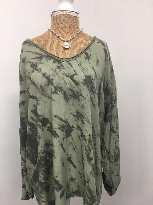 Marble khaki blouse