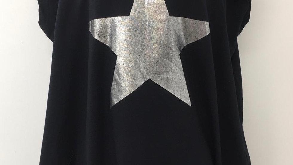 Navy star tunic