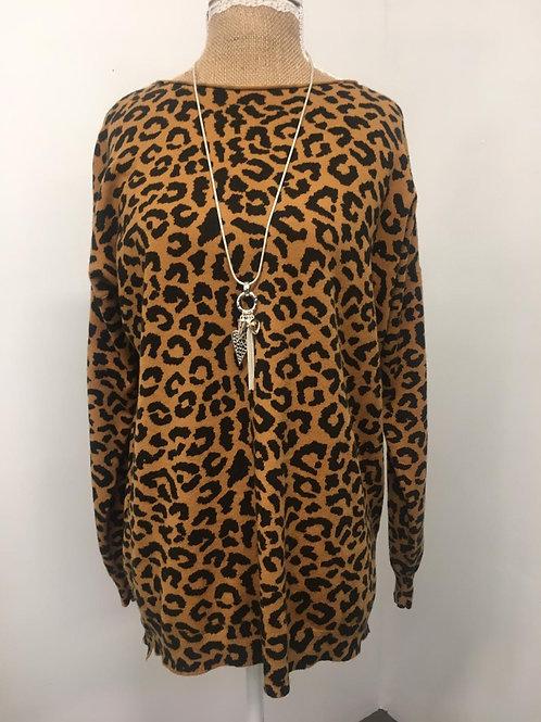 Mustard Leopard jumper
