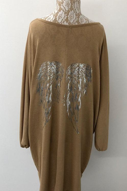 Angel wing tunic tan
