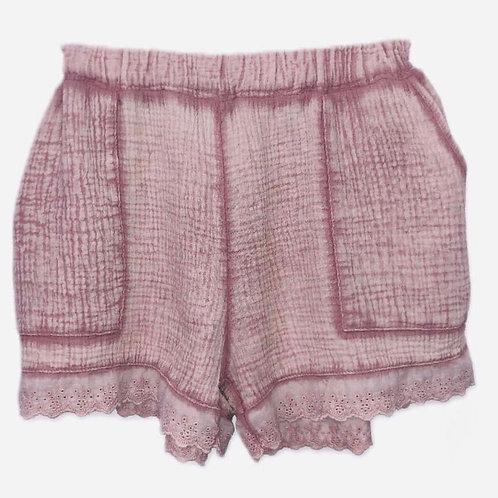 Ditsy shorts dusty rose