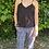 Thumbnail: Silk racer back vest black