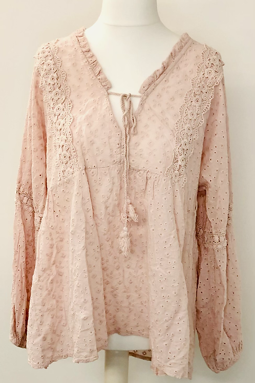 Ditsy blouse dusty pink