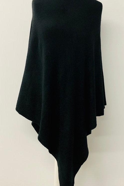 Plain black poncho
