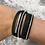 Thumbnail: Black faux leather wrap