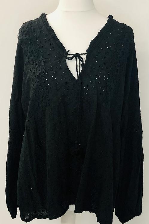 Ditsy blouse black