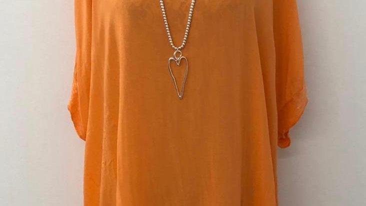 Everly sequin blouse orange