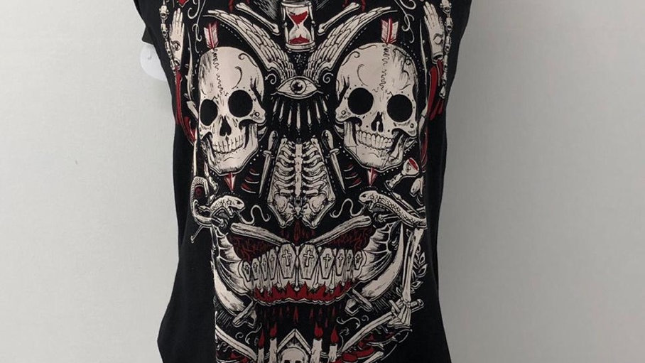 Rock skull vest size small