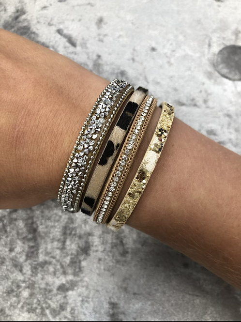 Gold faux leather wrap