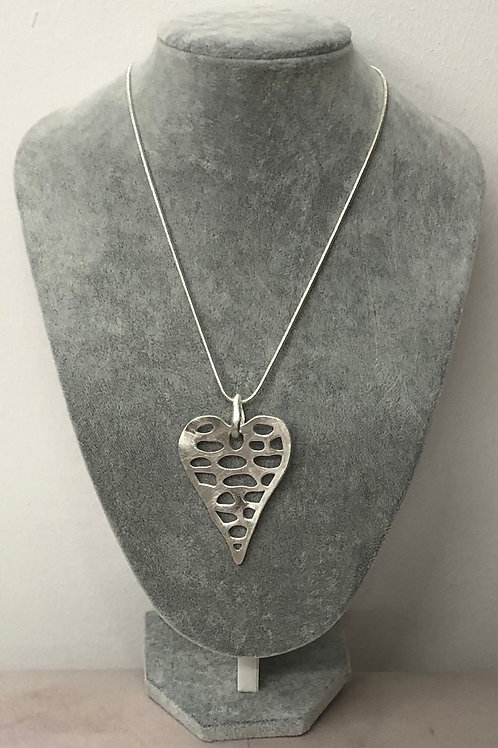 Holed heart necklace