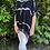 Thumbnail: Tie dye blouse with sparkle trim BLK