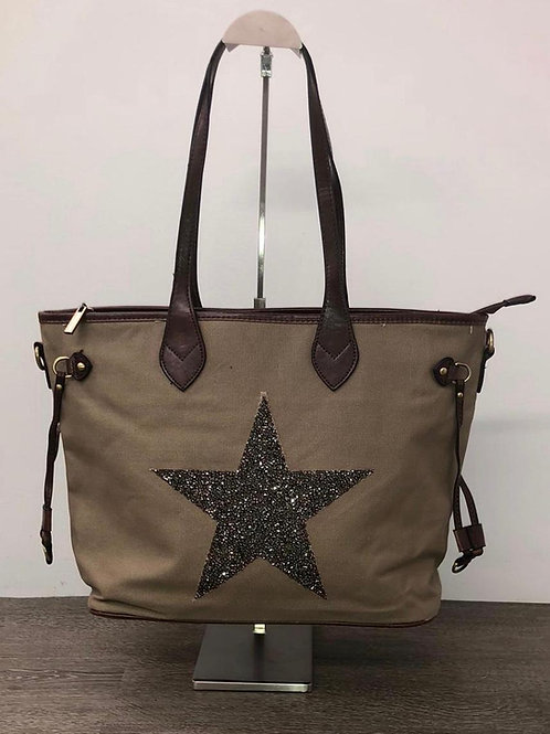 Star Canvas shopper sand