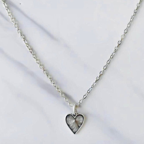 MARBLE HEART FINE NECKLACE