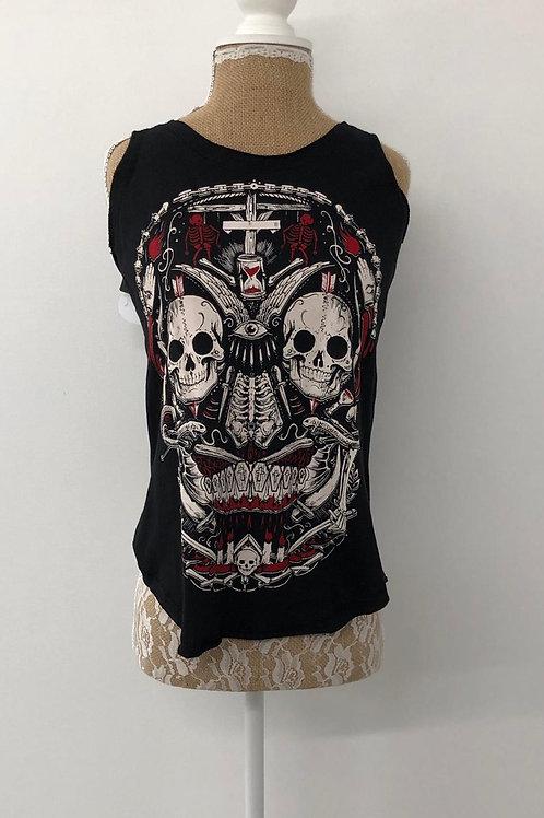 Rock skull vest size large