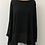 Thumbnail: Chiffon layered blouse black