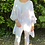 Thumbnail: Oversized linen with ruffle hem WHITE