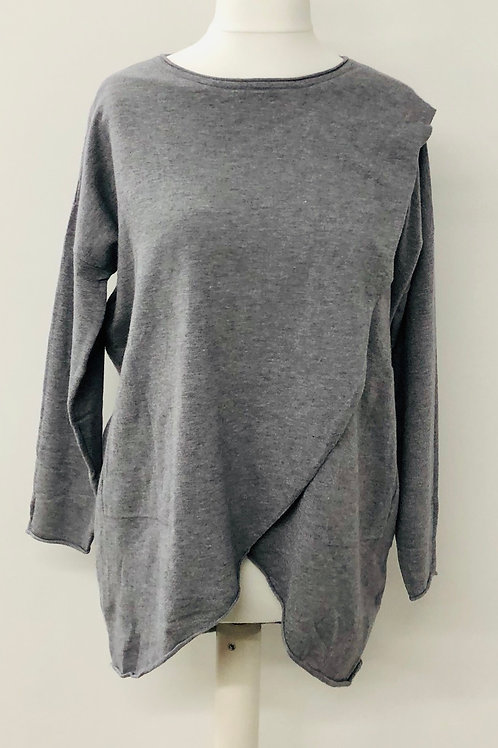Layered look jumper grey