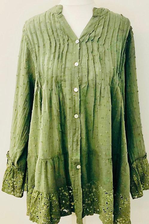 Dotty blouse khaki
