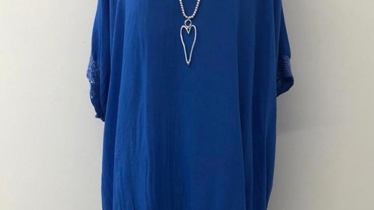 Everly sequin blouse blue