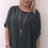 Thumbnail: Everly sequin blouse grey