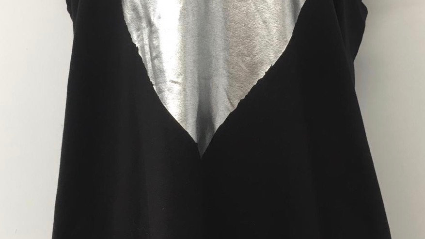 Black heart tunic