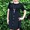 Thumbnail: Button down dress black