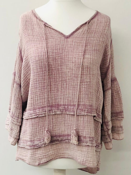 Lily cheese cloth blouse dusty pink