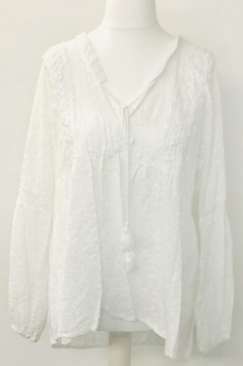 Ditsy blouse white