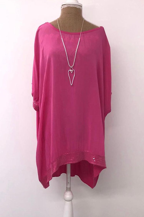 Everly sequin blouse pink