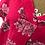 Thumbnail: Floral linen dress Fuchsia