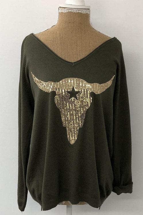 Ranch skull knit khaki