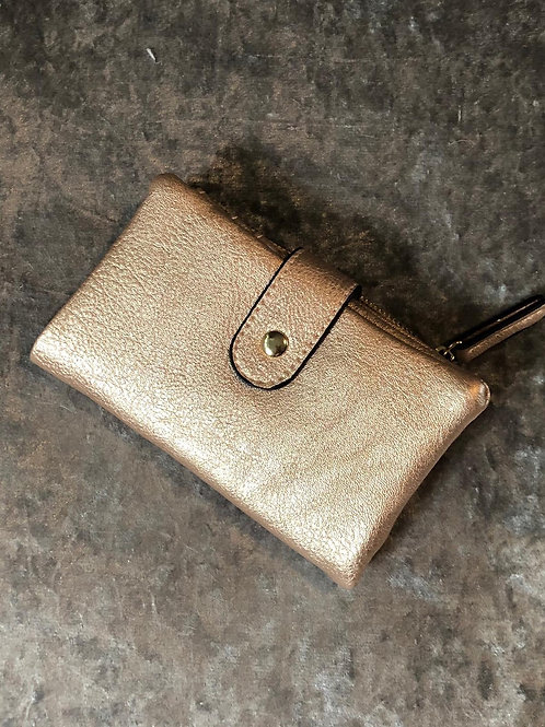 Metallic purse gold