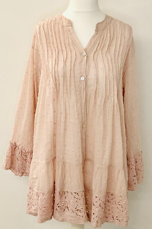Dotty blouse sweet-pea pink