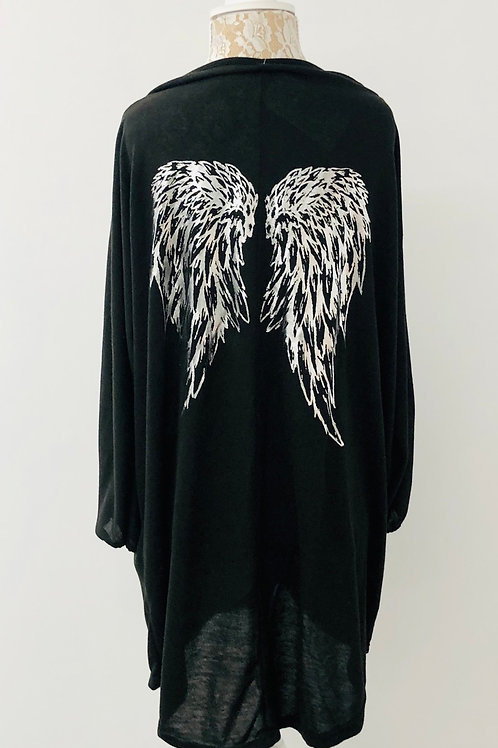 Black angel wing tunic