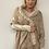 Thumbnail: Cream fur trim wrap