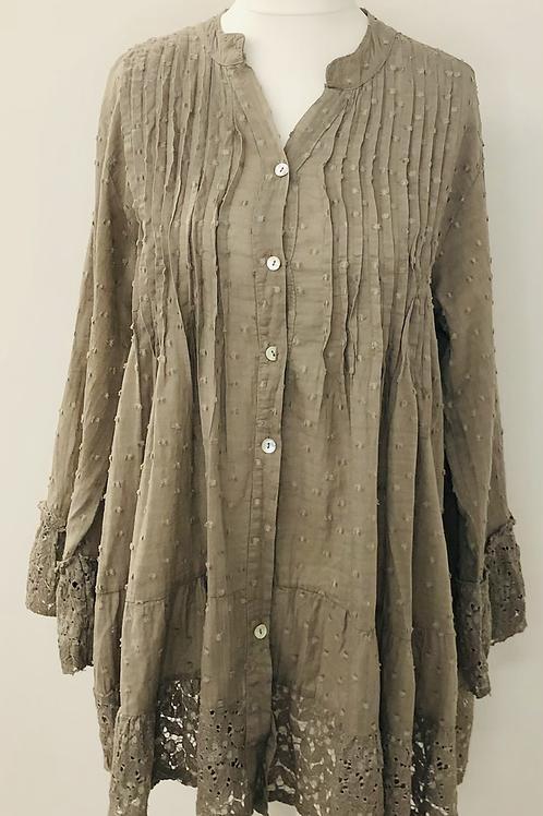 Dotty blouse mocha