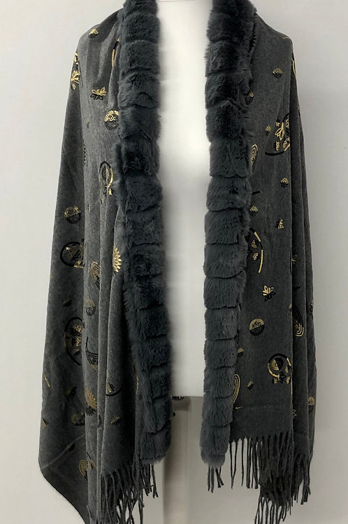 Grey faux trim wrap