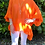 Thumbnail: Oversized linen with ruffle hem orange