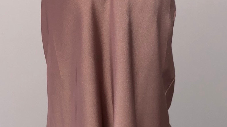 Silk racer back vest blush