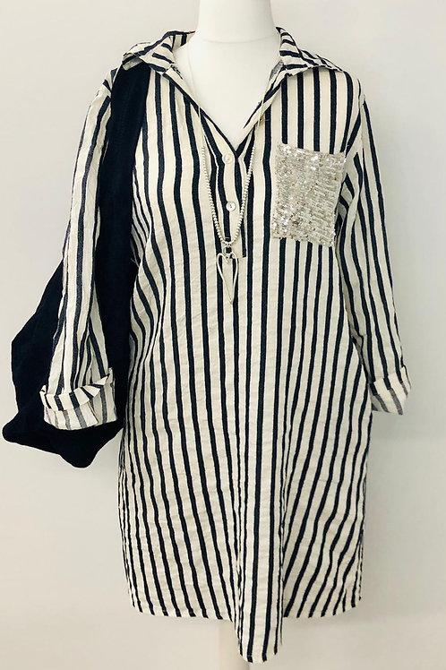Striped cheese cloth dress