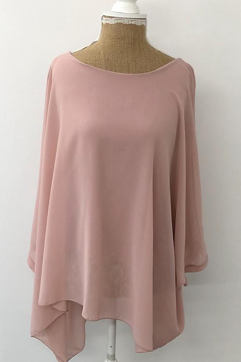 Chiffon layered blouse Blush