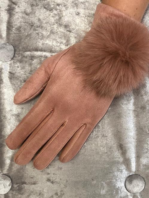 Pink Pom Pom gloves