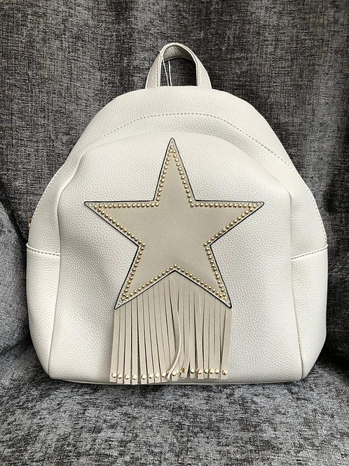 Dove grey star backpack