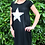 Thumbnail: Star T-shirt dress black