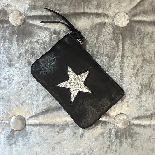 Metallic black coin purse