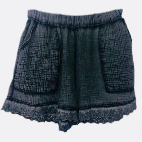 Ditsy shorts Washed graphite