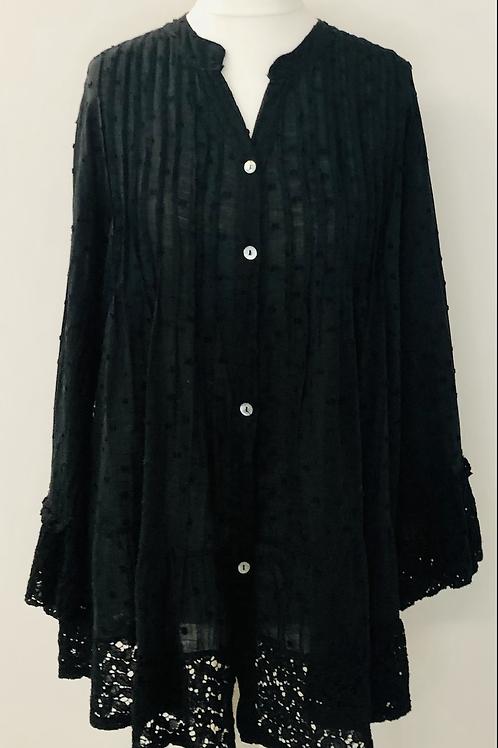 Dotty blouse black