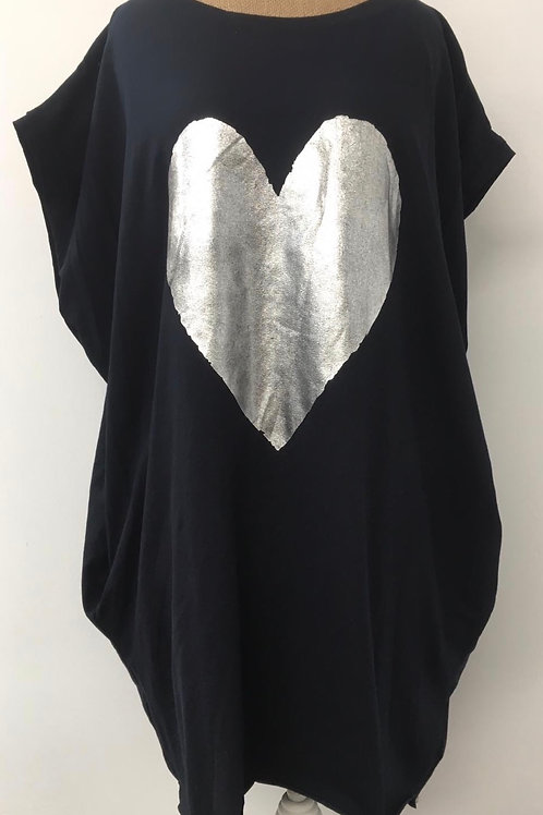 Navy blue heart tunic