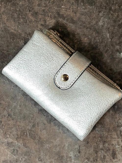Metallic purse silver