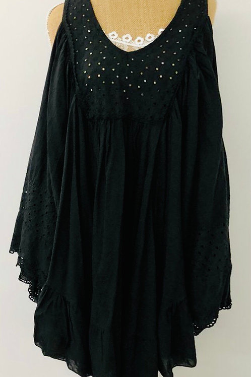 Black batwing tunic/dress